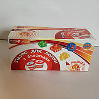 12235 Набор тесто для лепки с блестками ТМ Оранжевый слон