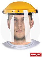 Защита для лица, состоящая из противоосколочного стекла, рамки и оголовья OTFS-VI Y