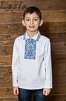 Вишиванка на хлопчика  Подільська синя, фото 1