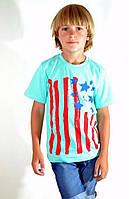Яркая принтированая футболка для мальчика