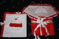 Красный набор на выписку из роддома для девочки, фото 1