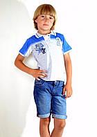 Модная футболка поло для мальчика