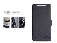 Кожаный чехол Nillkin Fresh для HTC One MAX чёрный