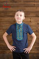 Вишиванка для хлопця Традиційна жовто-блакитна, фото 1