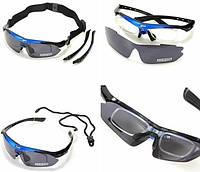 Тактические очки «Oakley Polarized» с 5-ти линзами Чёрно-Синий