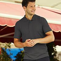Темно-серая мужская рубашка поло Premium