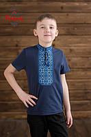 Вишиванка для хлопця Традиційна синьо-голуба