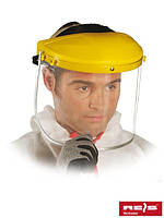 Защита для лица, состоящая из противоосколочного стекла, оголовья и шарнирного блока OTY Y