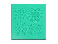 Молд от Арт ПроСвет - Набор снежинок,  35x35 мм