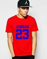 """Футболка мужская """"Jordan 23"""" красная Джордан"""