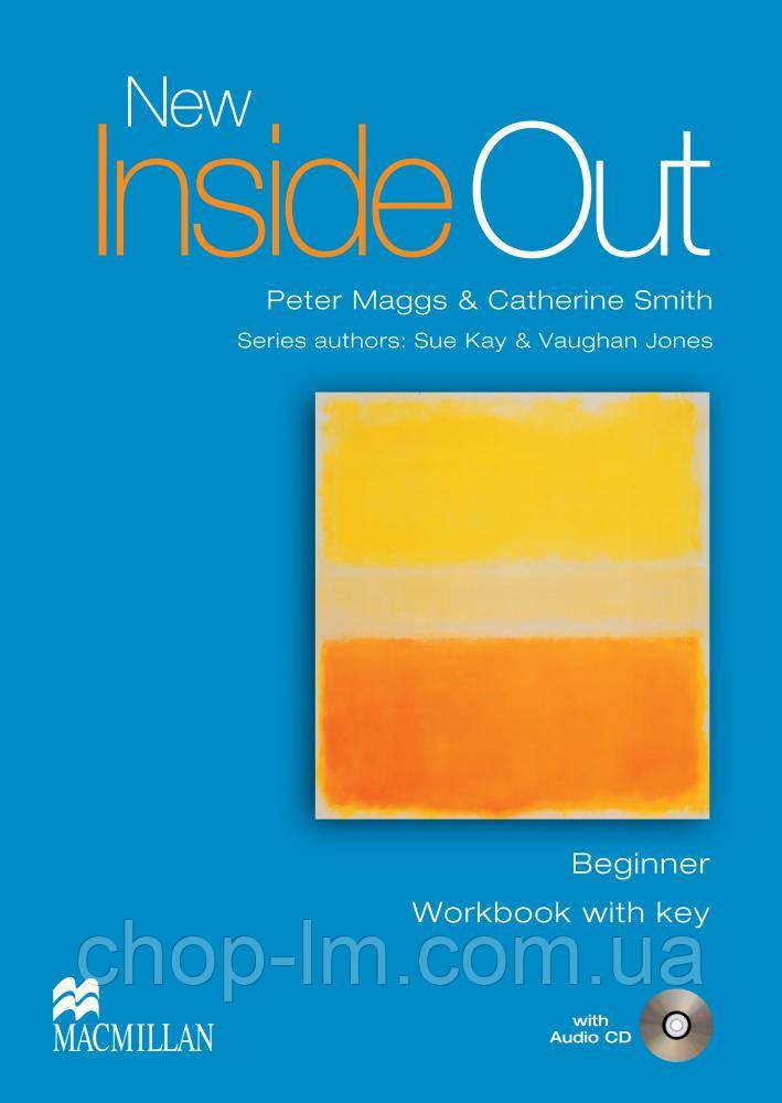 New Inside Out Beginner Workbook with Key Pack (тетрадь с ответами)