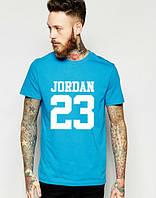 """Футболка мужская """"Jordan 23"""" голубая Джордан"""