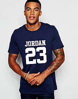 "Футболка мужская ""Jordan 23"" темно-синяя Джордан"