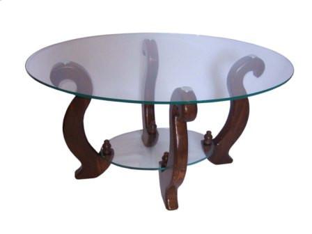 Стіл журнальний дерев'яний зі скляною стільницею та полицею ДС-3 Лідер Антонік, колір на вибір