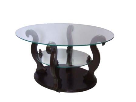 Стол журнальный стеклянный ДС-2 Шарм Антоник, цвет на выбор