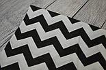 Отрез ткани №155  с зигзагом чёрного цвета, фото 2