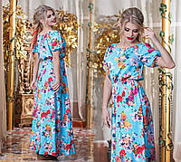 Женское летнее платье в пол №28-298 БАТАЛ