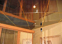 Металлическая плита для потолка армстронг 600х600. Зеркало