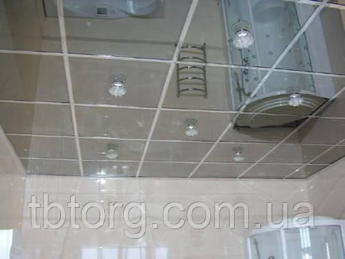 Потолочная плитка металлическая армстронг. Зеркало, фото 2