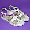 Босоножки кожаные на утолщенной белой подошве. Хит продаж., фото 3