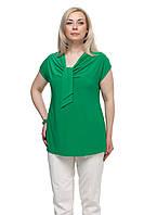 Женская блузка большого размера Галстук Зеленая