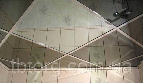 Металлические потолочные панели. Зеркало