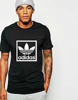 """Футболка мужская """"Adidas"""" черная Адидас"""