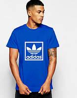 """Футболка мужская """"Adidas"""" синяя Адидас"""