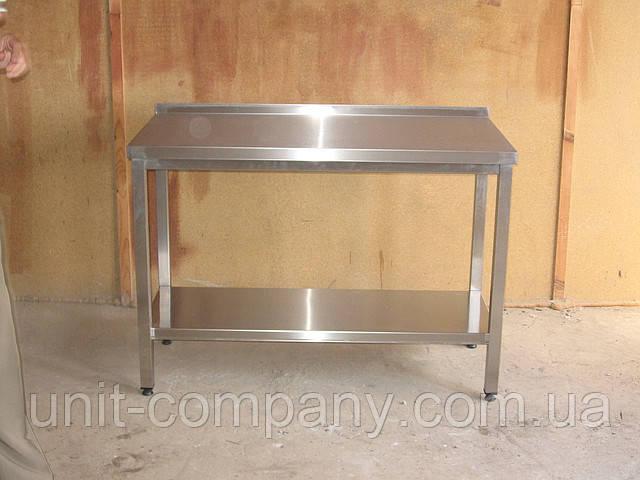 Стіл виробничий з нержавіючої сталі 1000х600х850