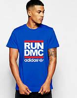 """Футболка мужская """"Adidas RUN DMC"""" синяя Адидас"""