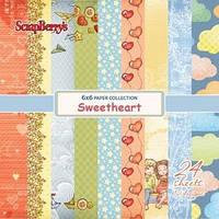 """Набор бумаги от ScrapBerry""""s - Мальчик и девочка, 15x15 см, 24 листа"""