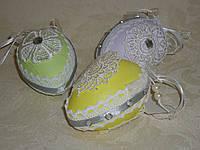 Яйцо с кружевом 9 см микс подвесное