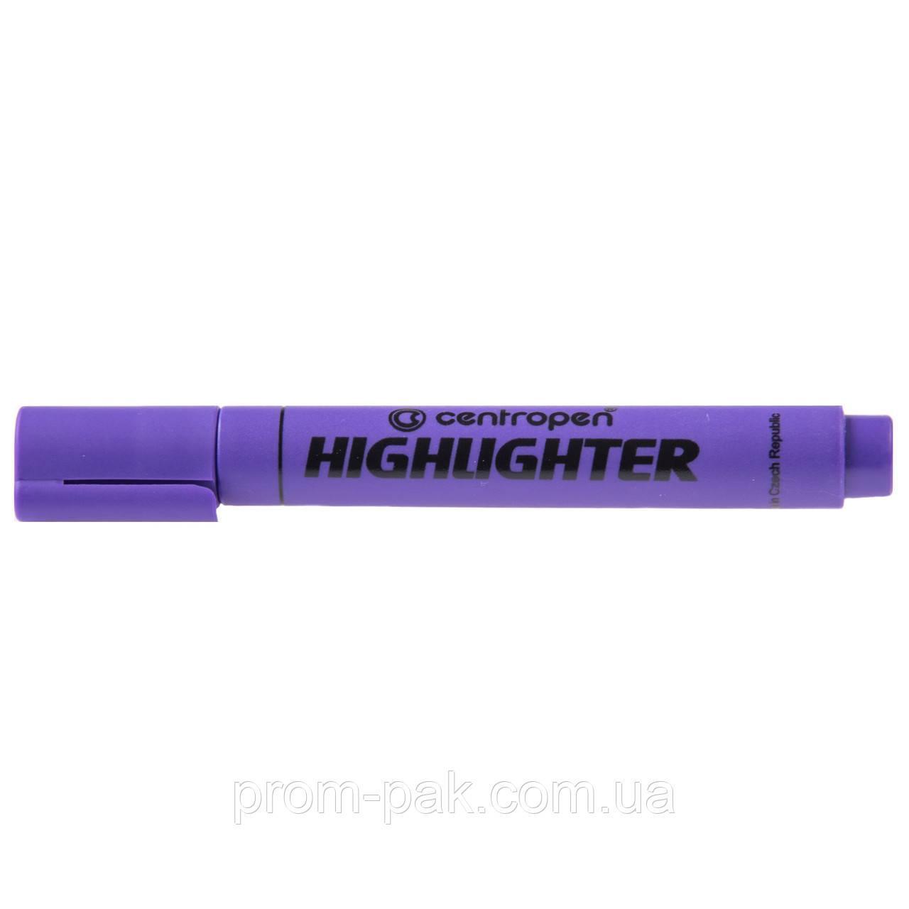 Маркер текстовыделитель Centropen фиолетовый