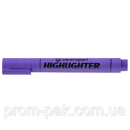 Маркер текстовыделитель Centropen фиолетовый, фото 2