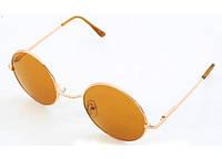 """Солнцезащитные очки """"Leps"""" унисекс, золотистая оправа, коричневые стёкла"""