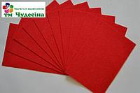 Фетр 1мм 50*40 красный, фото 1