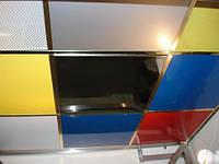 Монтаж и продажа металлического подвесного потолка. Зеркало
