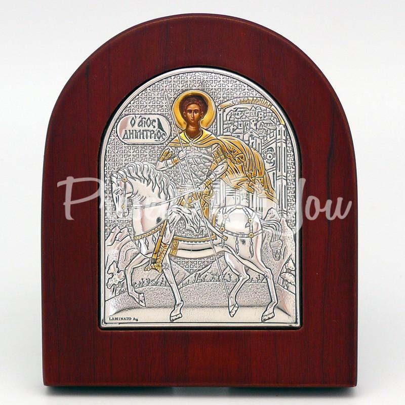 Икона «Святой Дмитрий», 10х8 см.
