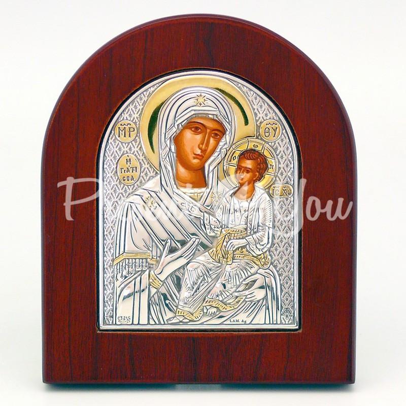 Иверская икона Божией Матери, 10х8 см.
