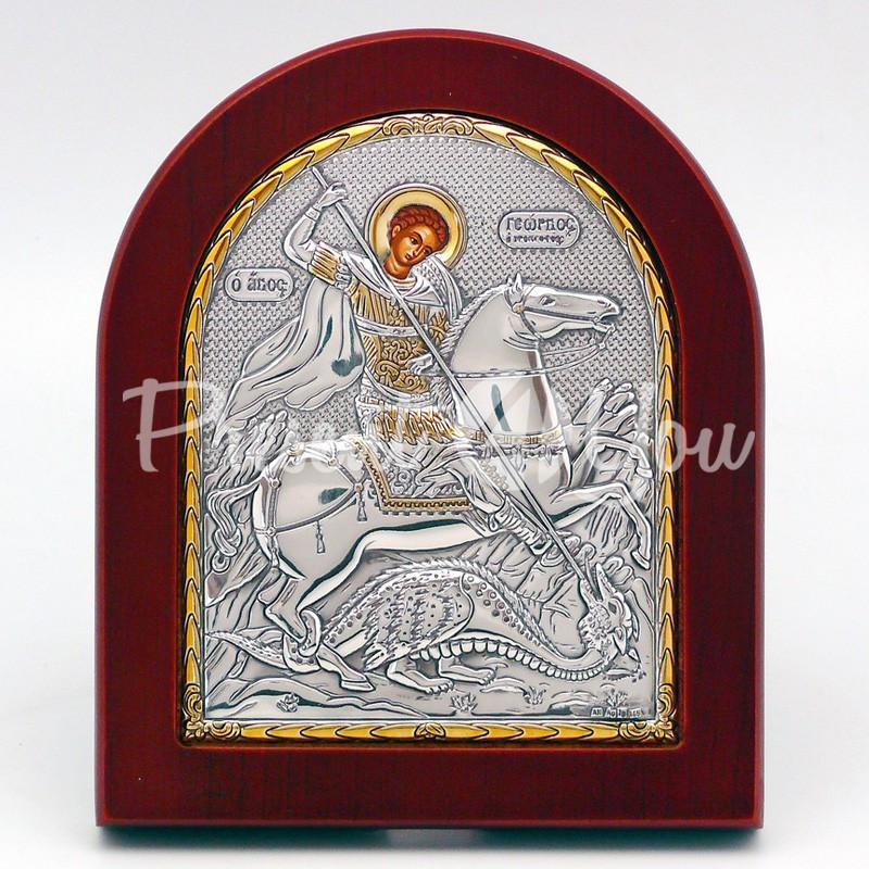 Икона «Святой Георгий Победоносец», 10х12 см.