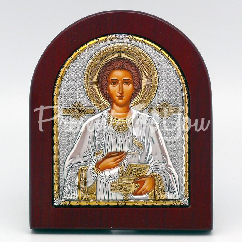 Икона «Святой Пантелеймон целитель», 10х12 см.