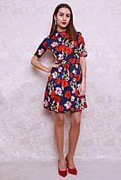 Весенне-летнее платье модной расцветки в стиле Dolce&Gabbana