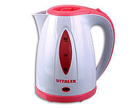 Электрочайник Vitalex VL-2025, чайник электрический 1,2 л, компактный чайник электро
