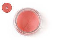 Цветная акриловая пудра 3D, для лепки, #004 Персиковый, Velena, 5г