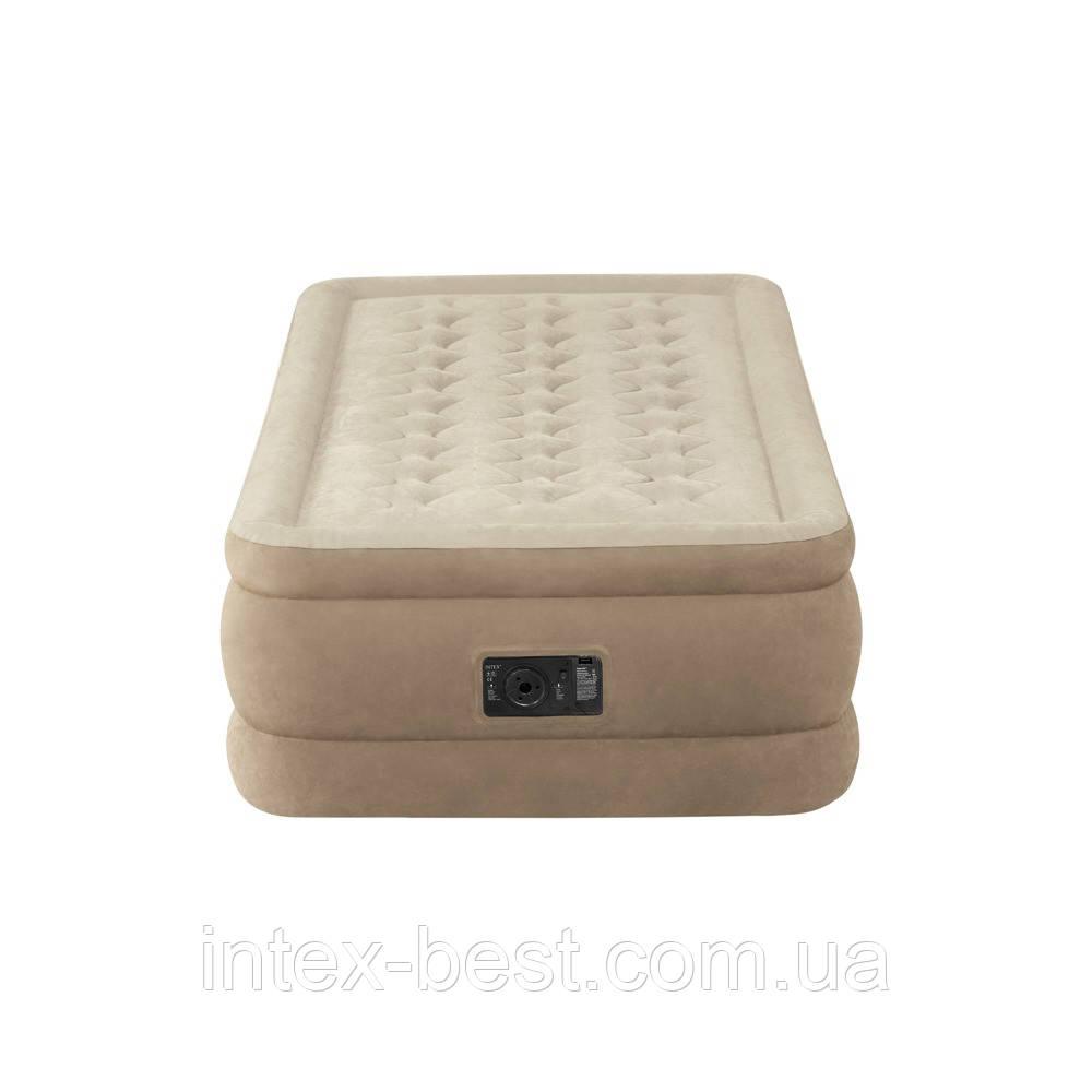 Intex 64456 - надувная кровать Twin Ultra Plush 191x99x46см