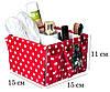 Комплект органайзеров для дома (для белья и косметики) ORGANIZE 5 шт (пин ап), фото 5