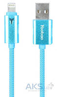 USB кабель Yoobao Colourful iPhone 5 Reversible cable YB-408 Blue