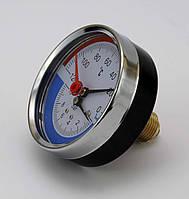Манометр Термометр (термоманометр) осевой ИМТ - 10 bar - 0-120°С - 2,6 G1/2 (О), фото 1
