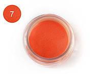 Цветная акриловая пудра 3D, для лепки, #007 Неоновый оранжевый, Velena, 5г