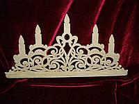 Свечи на стол декоративный (60 х 27 см), декор